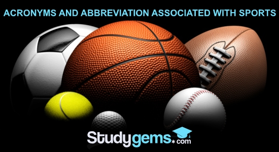 ABBREVIATION ASSOCIATED WITH SPORTS