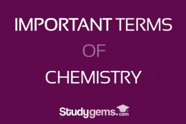 Important terms of chemistry